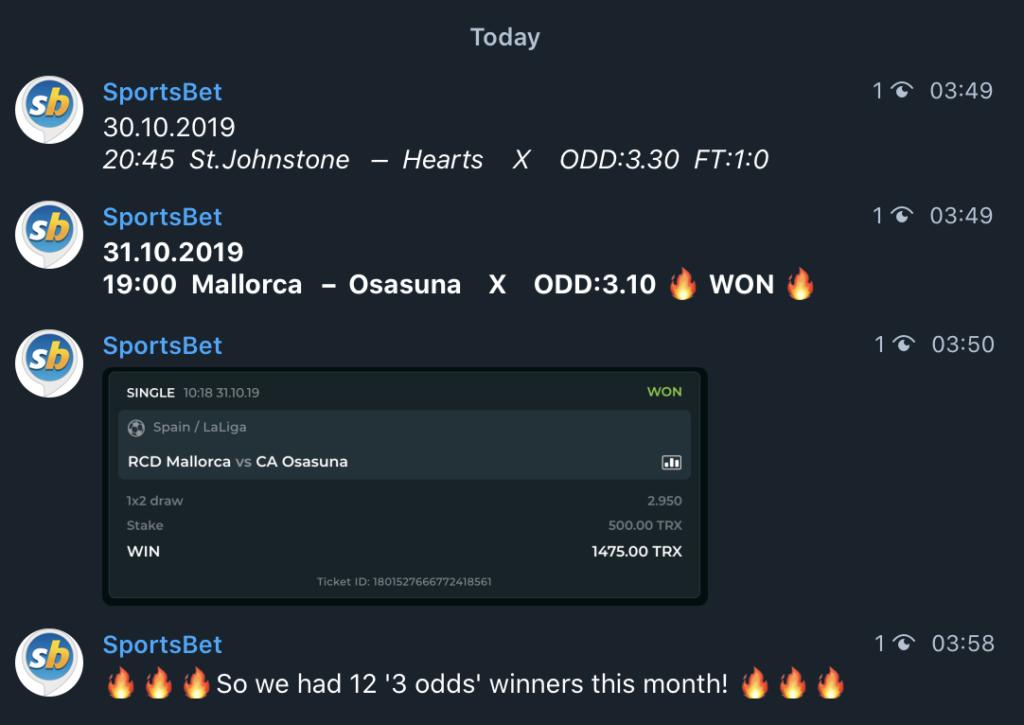 3 odds winners